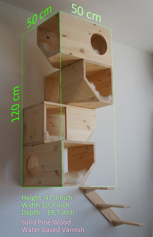 Natural Catissa Wooden Cat Tree